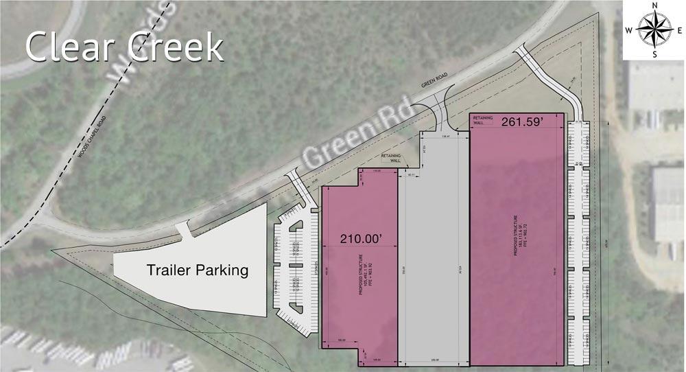 Clear Creek Industrial Park blueprint