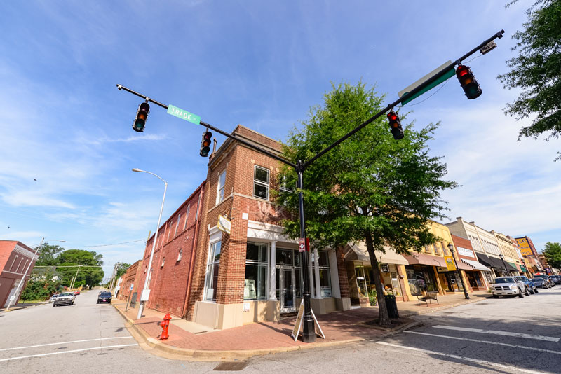 A corner of downtown Greer