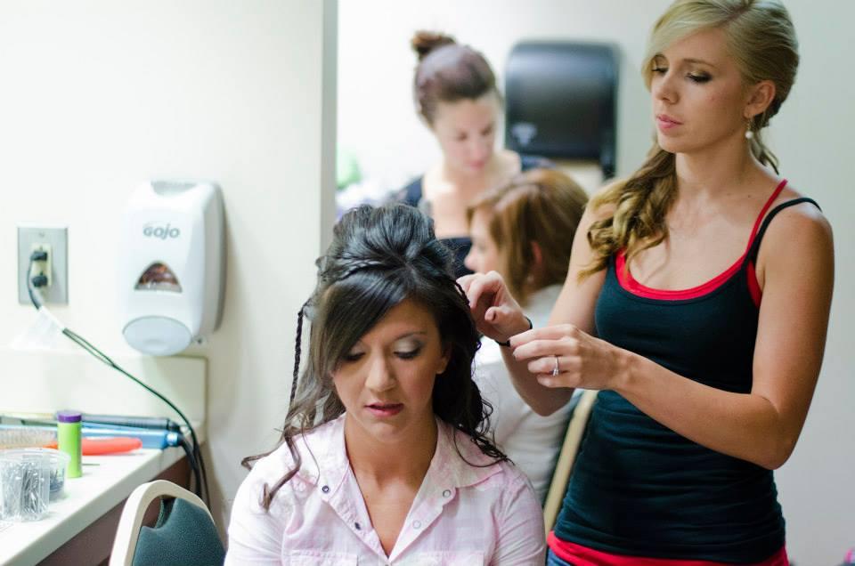 Woman cutting hair at Carolina Style Hair Salon in Greer